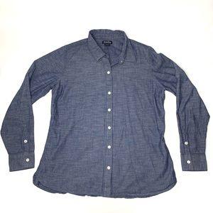Lucky Brand Denim Chambray Shirt Womens Sz Large